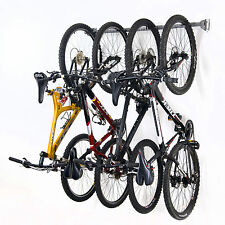 Monkey Bar Wall Mounted 4 Bike Garage Home Vertical Storage Rack System