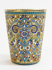 Russian Silver-Gilt and Cloisonné Enamel Beaker