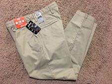NWT MENS DOCKERS ON THE GO STRAIGHT FIT KHAKI PANTS TAN 34X32 MSRP $60