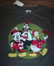 VINTAGE STYLE Disney MICKEY MOUSE DONALD DUCK GOOFY CHRISTMAS T-Shirt 2XL  NEW