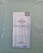 JC Penney Home Holden Grommet-Top Cotton Curtain Panel 50 X 84 IN Aqua Gray