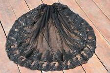 New 2-Layer Black Sequins lace edge wedding Bridal Veil Accessories Elbow Length