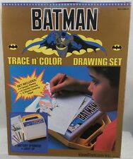 DC Superheroes - 1989 Batman Movie Era Light Up Trace N' Color Drawing Set (MIB)