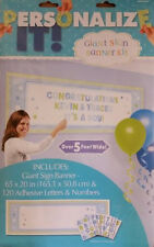 Giant Baby Boy Custom Banner/Sign Kit with Letters/Numbers Personalize 5' wide