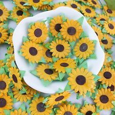 100 SUNFLOWER MULBERRY PAPER FLOWER SCRAPBOOK CRAFT WEDDING CARD ARTIFICIAL DOLL