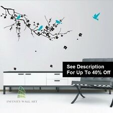 Wall Stickers Tree Bird Family Tree Flower Nursery Kids Wall Art Sticker8-D156-