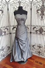 V37 ATELIER ALYCE 12273 SZ 10 CHARCOAL $550 #10308WP  FORMAL  GOWN DRESS