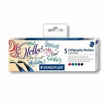 STAEDTLER CALLIGRAPHY MARKERS - Pack of 5 assorted colour double ended pens!