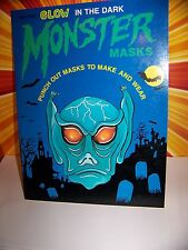 Vintage 80s Halloween Monster Mask Book Ottenheimer 1988 Retro Alien