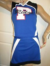 NEW Cheerleader Uniform Outfit Costume P Ridge Adult Medium 36/30 Royal Blue/Blk