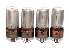 4 x 6V6gt  Raytheon - Hammond Tubes *Smoked Glass*D Getter* 10% Matched Tested*