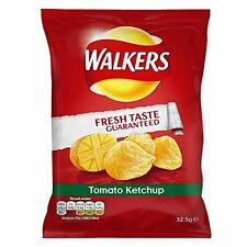 Box of 32 Walkers Tomato Ketchup Crisps (32.5g bags)
