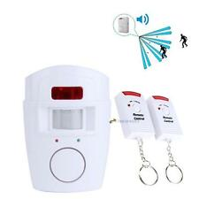 Wireless House Alarm PIR Motion Detector Alarm System + 2x IR Remote Security LN