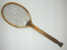 Alexandra Kidd & Wallace Fishtail Antique Tennis Racquet was Jeanne Cherry's
