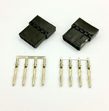 Pk de 2 - 4 Pin Molex PSU para PC powerconnector Passthru Macho/hembra-Negro Inc Pins