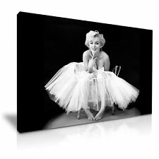 Marilyn Monroe-Ballerina Icon Canvas Wall Art Picture Print 76cmx50cm / 30x20""