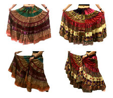 1-tribale gypsy Belly Dance Sari CONTADINA Boho Gonna Banjara BAUCHTANZ röcke