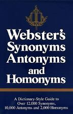 Webster's Synonyms, Antonyms, and Homonyms Rh Value Publishing Hardcover