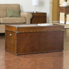 Southern Enterprises Well Organized Steamer Trunk Cocktail Table CK4191 Table