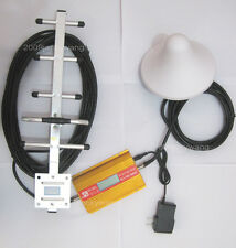 NEW 4 LCD functions display GSM 900Mhz phone signal booster repeater YAGI kit