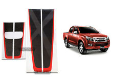 BLACK RED STICKER X-SERIES FRONT REAR TAILGATE FOR ISUZU D-MAX DMAX 2013-2015