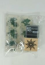 Hero Art Christmas Nordic Snowflake Rubber Stamp mini kit with ink pad and more