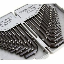 Combo Hex Key Allen Wrench Set 30PC SAE Metric Long and Short Arm w Storage