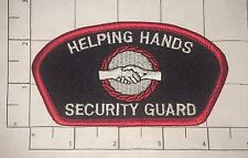 Helping Hands Security Guard Patch