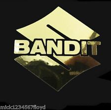Bandit gold chrome motorcycle decals custom graphics 70mm x 70mm