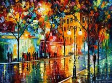 """THE TEARS OF THE FALL — Oil Painting On Canvas By Leonid Afremov.  Size: 40""""x30"""""""