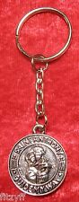 St Anthony Guide My Way Keyring Holy Religious Saint Key Ring