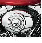 Harley Skull &Chain Chrome Air Cleaner Cover 99 Up FLH FXST FLST FXD