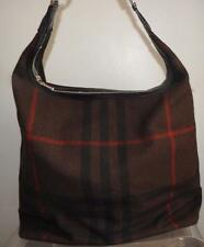 large designer BURBERRY nova check wool brown plaid tote bag luggage handbag