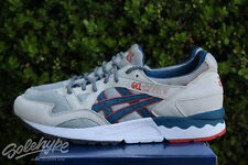 ASICS GEL LYTE V 5 SZ 6.5 GHOST CHILI LIGHT GREY LEGION BLUE ORANGE H6A2Y 1345