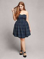 *GIFT *POCKETS  PLUS SIZE PLAID DRESS TAGGED 2 2X 18 20 SCHOOL GIRL SKIRT TORRID
