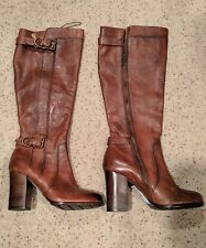 New Frye Parker D Ring Copper Leather Knee High Boots Size 8.5M RTLS $425