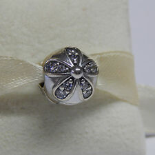 New Authentic Pandora Charm 791493CZ Dazzling Daisies CZ Clip Box Included