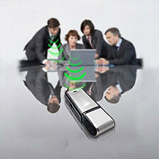 NEW USB MEMORY STICK Rechargeable 8GB 650Hr Voice Recorder Dictaphone Silver