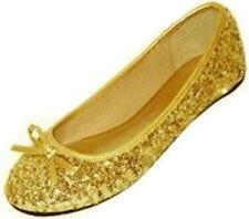 New Womens Sequins Ballerina Ballet Flats Shoes