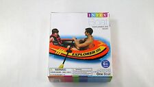 INTEX Explorer 200 Inflatable Boat Water Raft Lake River Pool 2 Person 73x37x16