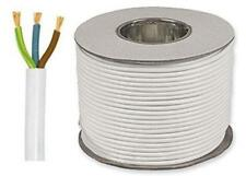 White Round Flexible Cable 2183Y 3 Core 0.5mm 3 Amp 50m 3 Core Flex Drum OR Coil