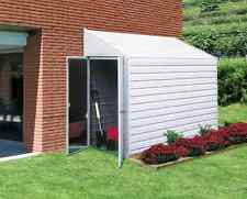 Storage Shed Kit Metal Galvanized Steel Building Outdoor Garden Tool Bike