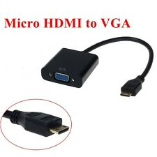 For Asus Transformer Book T100TA 1080P Micro HDMI to VGA Cable Monitor Projector