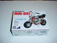 1/8 Rupp Roadster Mini-Bike Red Plastic Model Kit MIB Motorcycle Plus A BONUS