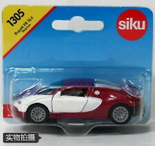 Bugatti Veyron Sports Car White & Red, Diecast Car Model Toys NEW Siku 1305