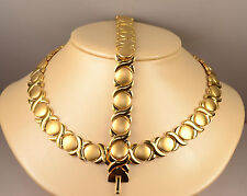 ladies X&O necklace & bracelet set yellow gold finish stainless steel