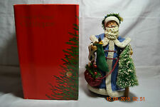 1989 Clothtique  Santa With Blue Robe Figurine    Original Box