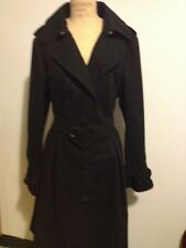 Victor & Rolf for H&M Black Trench Coat w/ Heart Belt Sz L Collectible!