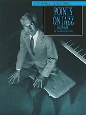 Dave Brubeck -- Points on Jazz: Original Two-Piano Score by Alfred Publishing...