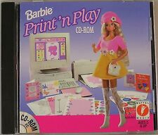 Barbie Print 'n Play - PC, New Windows 95, Windows Me, Windows  Video Games